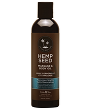 Load image into Gallery viewer, Earthly Body Hemp Seed Massage Oil - 2oz or 8oz bottles.  10 different flavors