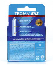 Load image into Gallery viewer, Trojan Enz Spermicidal Lubricated Condoms - Box Of 3