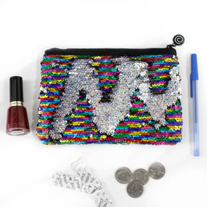 Sequin Mermaid Large Pouch