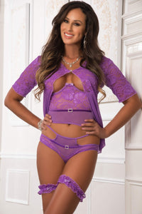 G World 4pc Open Cup Top and Open Rear Cheekini with Robe