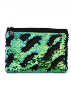 Load image into Gallery viewer, Sequin Mermaid Large Pouch