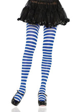 Load image into Gallery viewer, Leg Avenue Striped Nylon Tights - Asst Colors