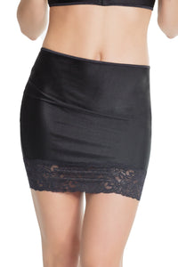 Coquette High Waisted Lace Trim Skirt