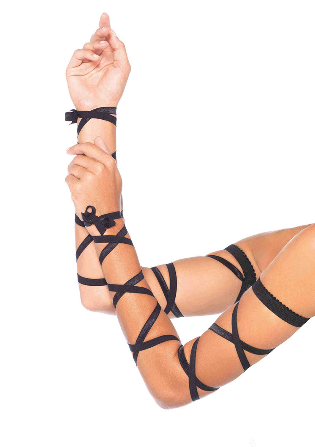 Leg Avenue Arm Wraps - Black, Pink