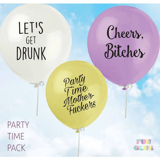 Party Time Party Balloon Pack