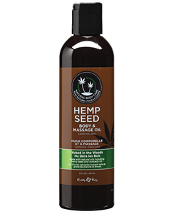 Earthly Body Hemp Seed Massage Oil - 2oz or 8oz bottles.  10 different flavors