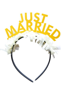 Party Up Top Single Headband - Just Married