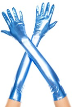 Load image into Gallery viewer, Music Legs Extra long metallic gloves - Black, Blue, Silver