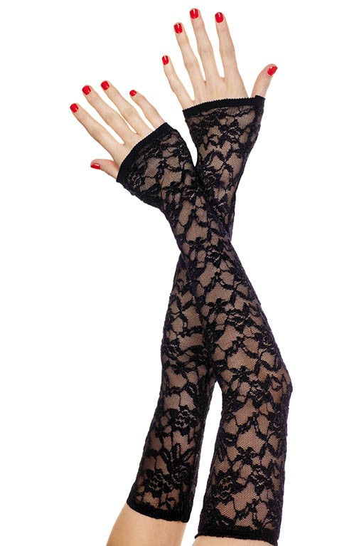 Music Legs Extra Long Fingerless Lace Gloves