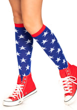 Load image into Gallery viewer, Leg Avenue Star Knee High Socks