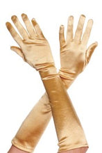 Load image into Gallery viewer, Music Legs Extra long satin gloves - Asst Colors