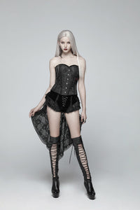 Gothic Swallow Tail Dress Shorts
