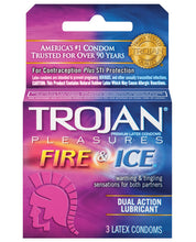 Load image into Gallery viewer, Trojan Fire & Ice Condoms - Box of 3