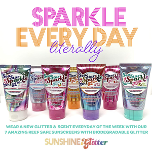 Sea Star Sparkle Rainbow Glitter Sunscreen - Asst Scents