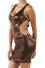 Load image into Gallery viewer, Oh Yes Fashion METAL O-RING AT SIDE WITH SHIRRING MINI DRESS