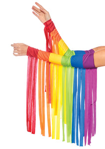 Leg Avenue Rainbow Fringe Arm Warmers