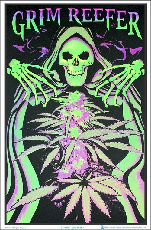 Grim Reefer Black Light Poster - 23