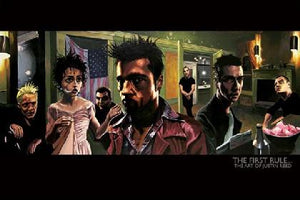 "Fight Club ""The First Rule"" By: Justin Reed Poster - 36"" X 24"""