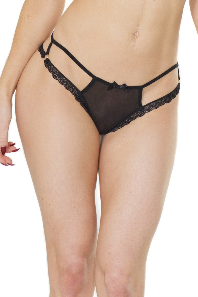 Coquette Plus Size Diva Strappy Thong - Assorted Colors