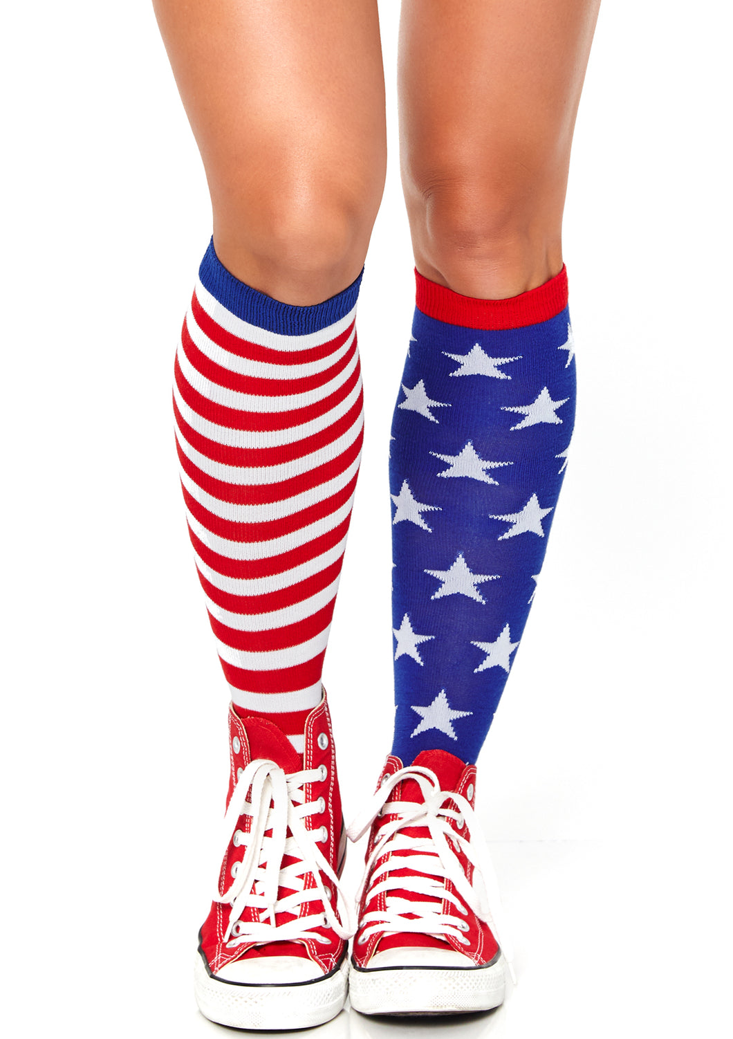 Leg Avenue Stars and Stripes Knee High Socks