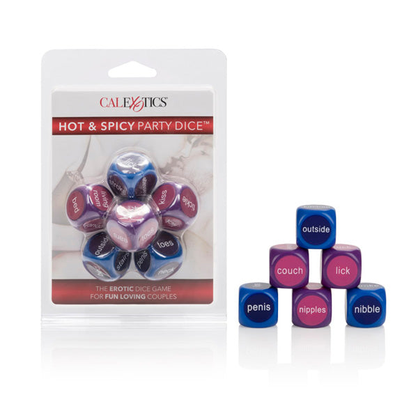 Cal Exotics Hot & Spicy Party Dice Multi-Colored