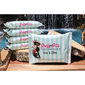 Puss and Pits premium feminine wipes - 15 ct