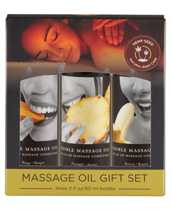 Earthly Body Edible Massage Oil Gift Set - 2 Oz