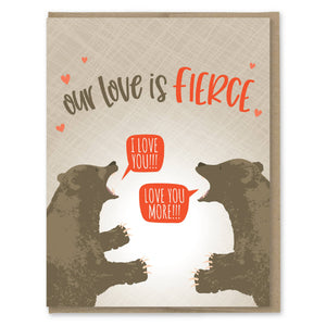 Fierce Love Valentine Card