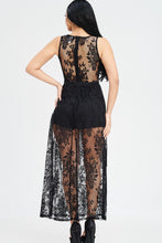 Load image into Gallery viewer, Oh Yes Fashion Sheer Lace Maxi Dress