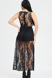 Oh Yes Fashion Sheer Lace Maxi Dress