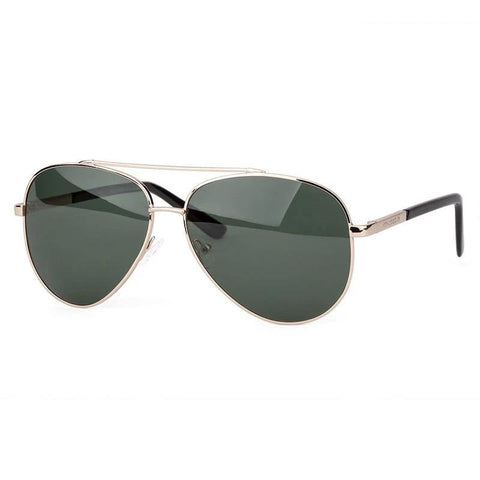 Pilot Style Oval Metal Frame Polarized Sunglasses - Southern Streetwear
