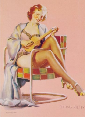 gil elvgren sitting pretty 1939