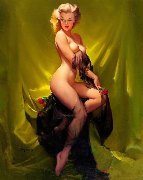 gil elvgren golden beauty 1957