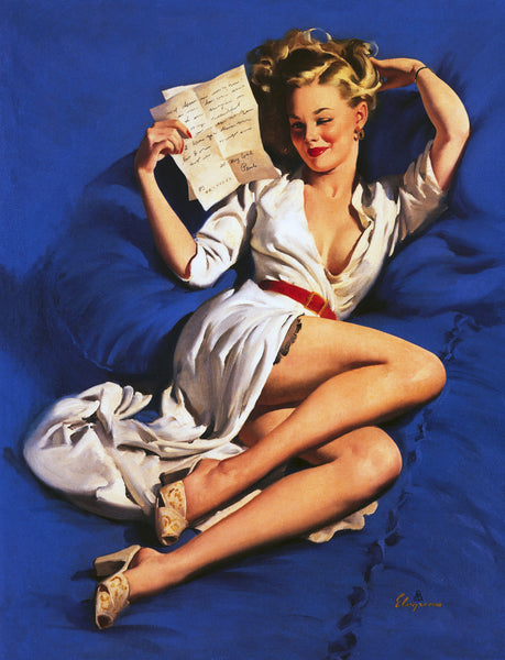 He Thinks I'm Too Good To Be True Gil Elvgren 1948