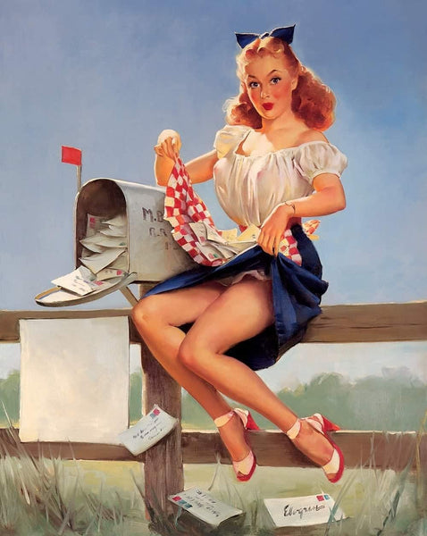 keeping posted gil elvgren 1951