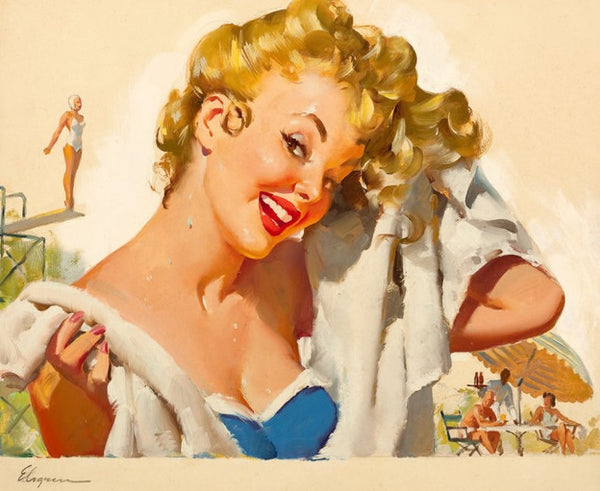 poolside fun gil elvgren