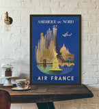 affiche air france amérique du nord