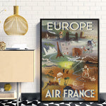 affiche air france europe