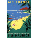 affiche air france ile maurice