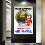 affiche air france paris londres