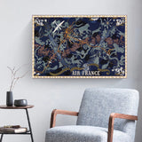 affiche air france planisphere