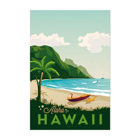affiche ancienne hawaii