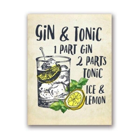 affiche gin tonic