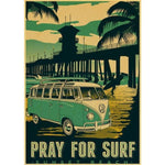 affiche pray for surf
