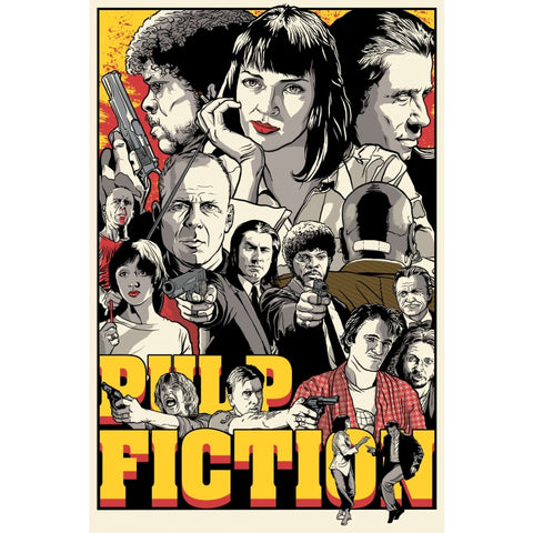affiche vintage pulp fiction