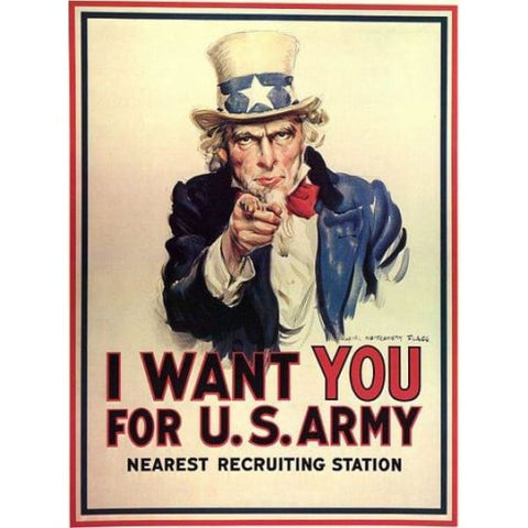 affiche I want you for us army