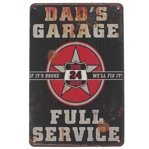 dad's garage plaque