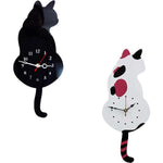 horloge chat queue balancier