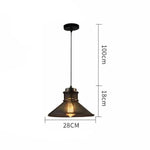 lustre suspension industrielle vintage e27