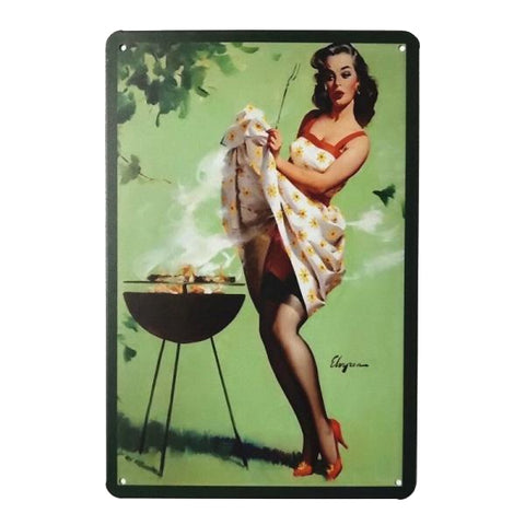 plaque barbecue vintage